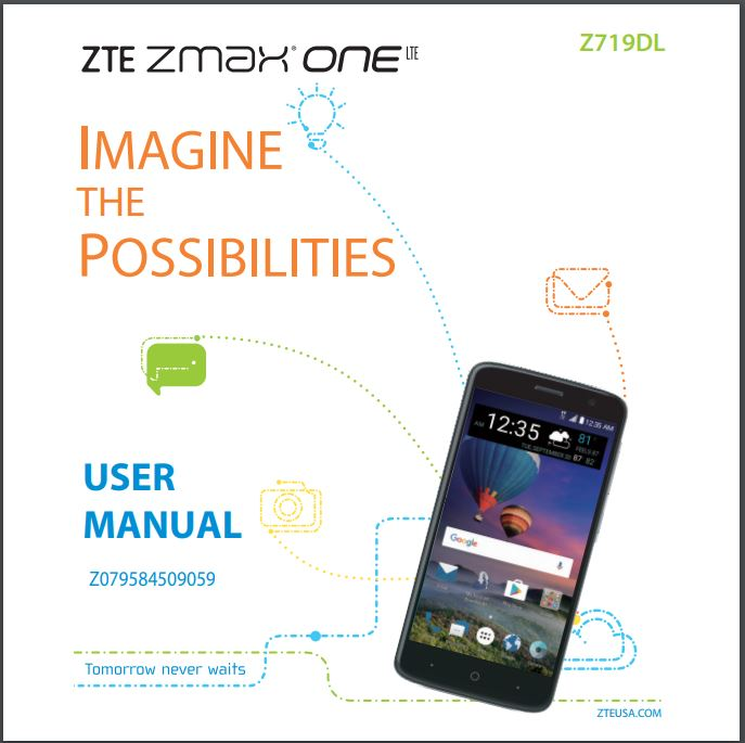 ZMAX ONE LTE Z719DL User manual - Download User Manual