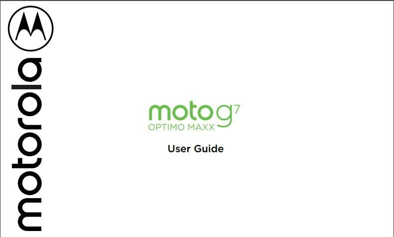 Tracfone Prepaid Moto G7 OPTIMO MAXX XT1955DL User Manual