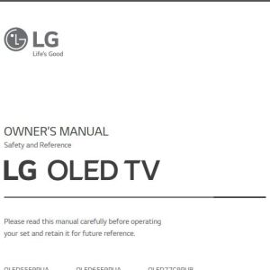 LG C9 65 inch Class 4K Smart OLED TV User Guide / Manual
