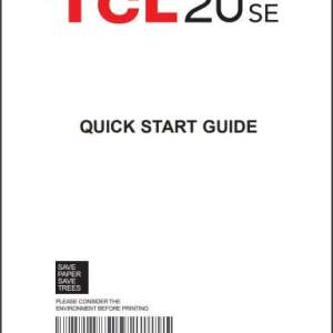 TCL 20 SE T671E User manual/ Guide