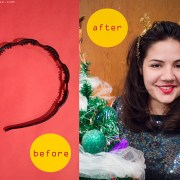 DIY LAst Minute Ear Garland Headband