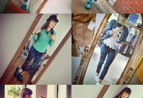 6 Skinny Jeans Outfits: How I Wear DIY Bleached Denim Pants