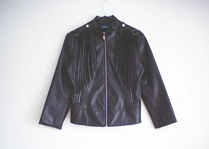 Fringed Jacket DIY result