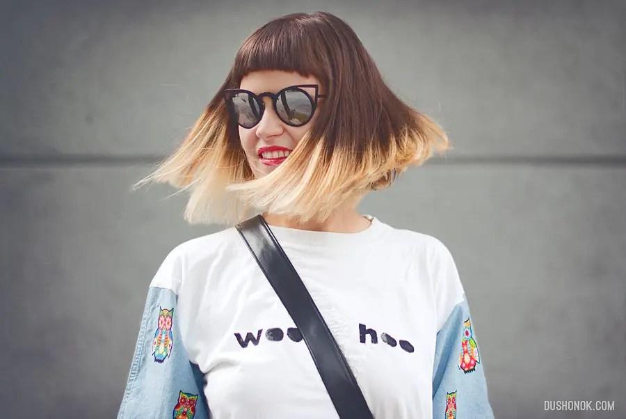 Contrast Sleeve T-Shirt DIY Result