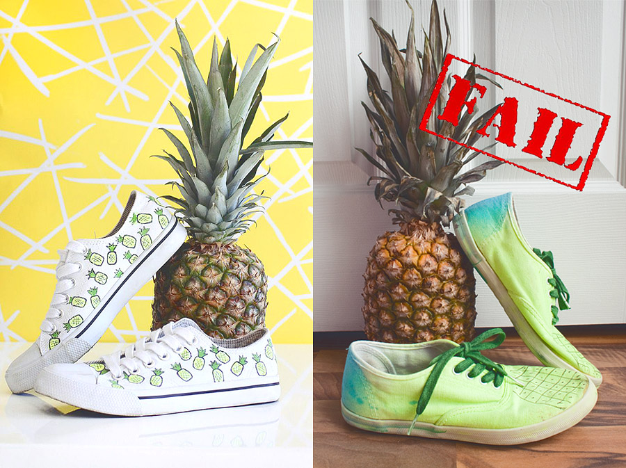 Pineapple Shoes DIY
