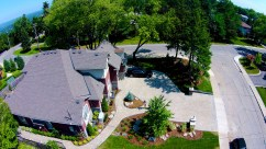 Drone Photo of Hamilton Property using Permacon products
