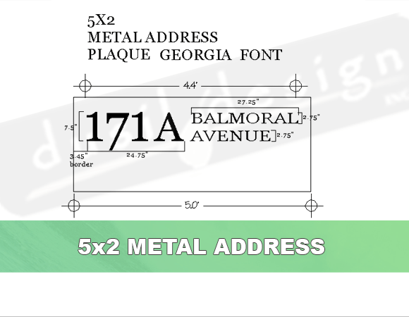 Address Plaque Large