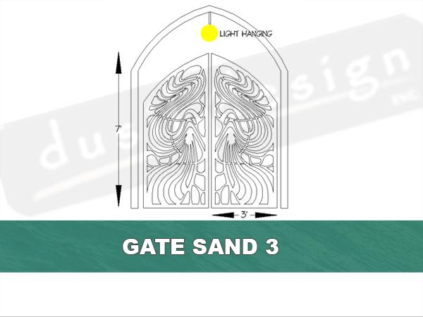 Artistic Gates Laser Cut Corten