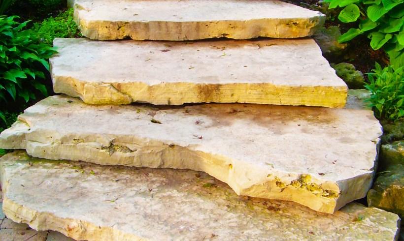 Megaslab flagstone steps