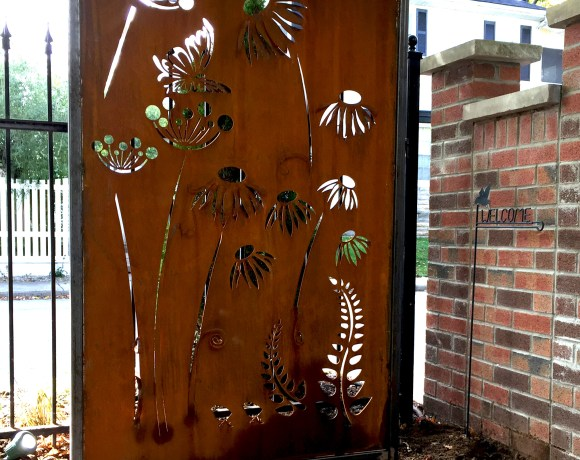 Custom Corten Art Piece and Privacy
