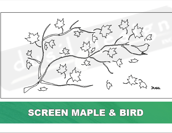 Screen Maple and Bird