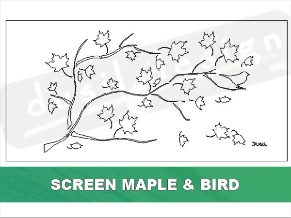 Screen Maple and Bird