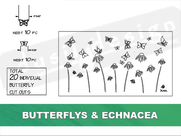 Screen Butterflies and Flowers