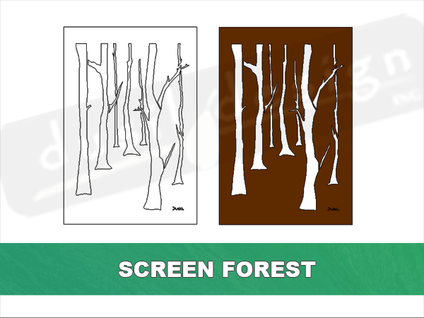 Screen Tree Forest- designed by breathe LANDSCAPE DESIGN