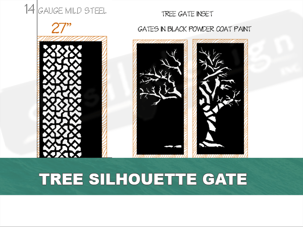 Metal Tree Silhouette Gate