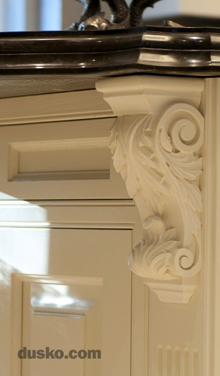 Colonial Style Kitchen in Prestbury, Cheshire Ornate Acanthus Corbel