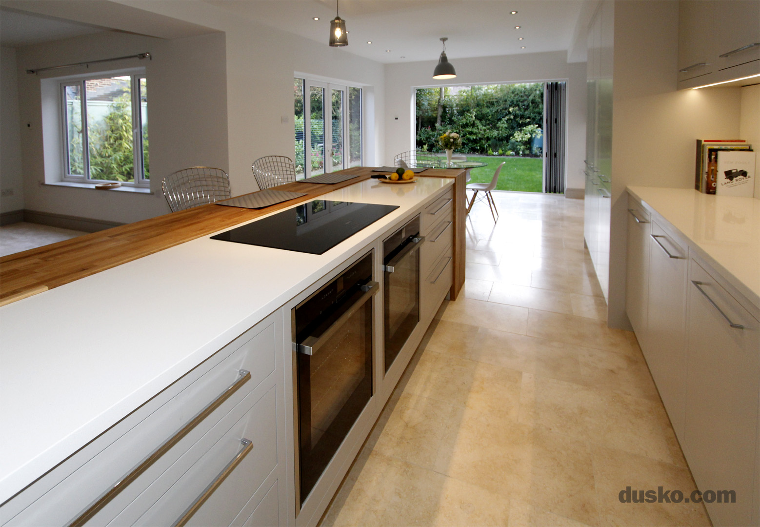 Contemporary Open Plan Kitchen and Dining Area in Handforth, Cheshire Neff Ovens