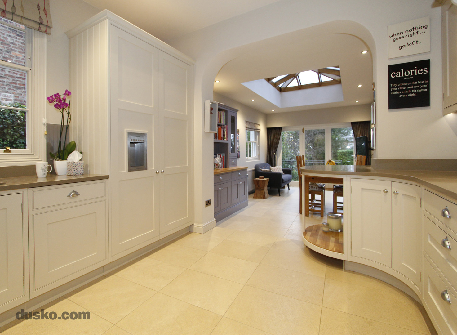 In Frame Kitchen in Bowdon, Cheshire Integrated Fridge Freezer