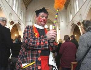 POWWOW - clown in church