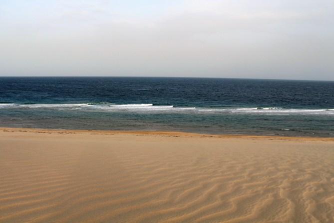 Katar'ın Suudi Arabistan sınırında olan Sealine Beach, denizle çölün muhteşem bir birleşimi.