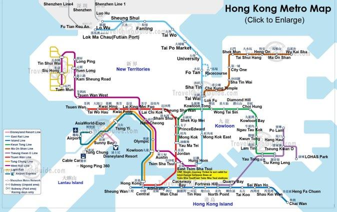 Hong Kong'da metro sistemi gayet iyi çalışıyor.