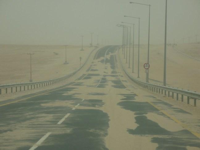 Doha'da kum fırtınası varken bu tarz manzaralar hiç şaşırtıcı değil.