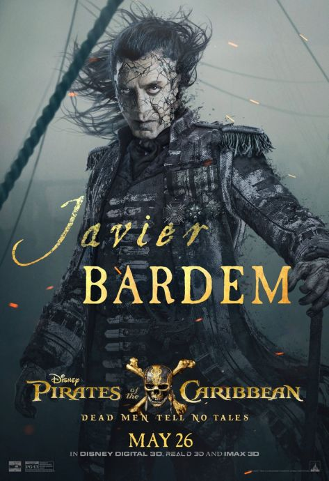 Pirates of the Caribbean Dead Men Tell No Tales Javier Bardem
