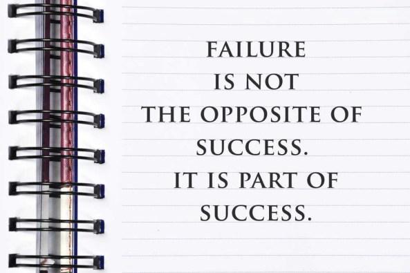 Hedeflerimize giden yolda, başarısızlık bizim düşmanımız değil, bize doğruyu gösteren yol arkadaşımızdır.