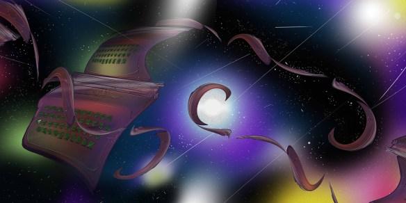 Seren Şapçılar'ın Aylık Öykü Seçkisi için yaptığı daktilo çalışması.