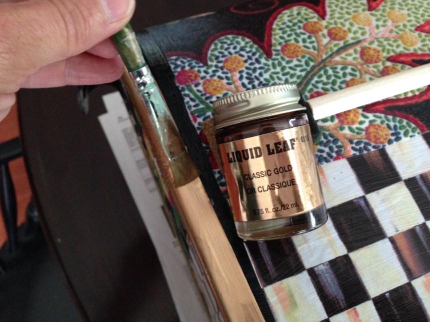 liquid leaf, gold leaf, gold paint