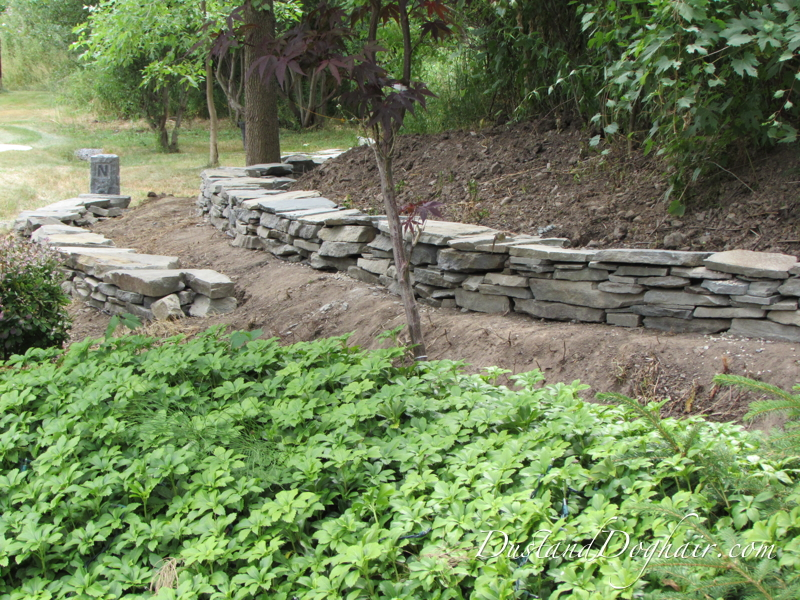 diy stack stone retaining wall