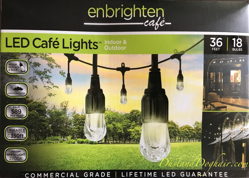 outdoor market lights, patio lights, cafe lights, hanging lights , string lights, LED lights, enbrighten