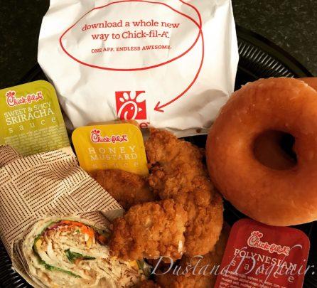 graduation dinner chick-fil-a krispykreme junk food deliciousness