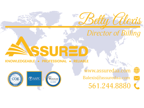 Betty Alexis - Assured Business Card - Dustbunny Creative