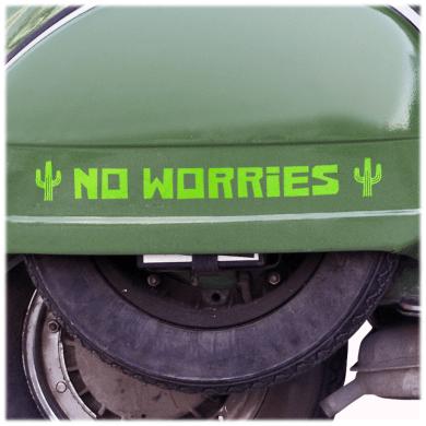 No Worries Decal