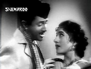 Dev Anand and Madhubala in Jaali Note