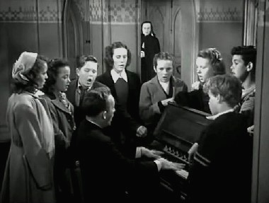Bing Crosby singing Adeste Fideles in The Bells of St Mary's