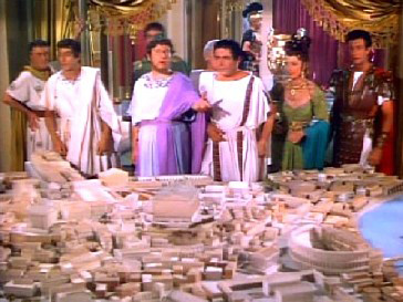 Nero displays his plan for a new Rome