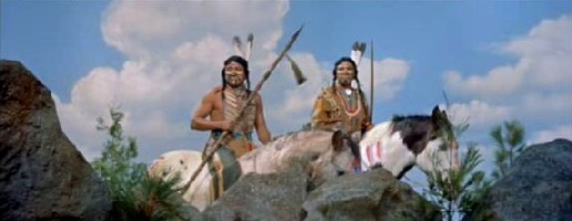 Cree Indians watch Matt and Co.