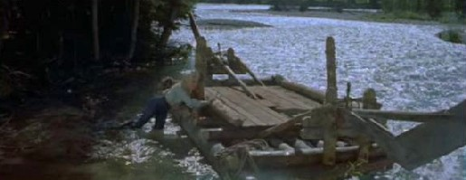 Kay sets the raft adrift