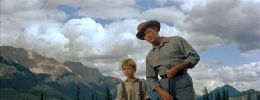 Robert Mitchum and Tommy Rettig in River of No Return