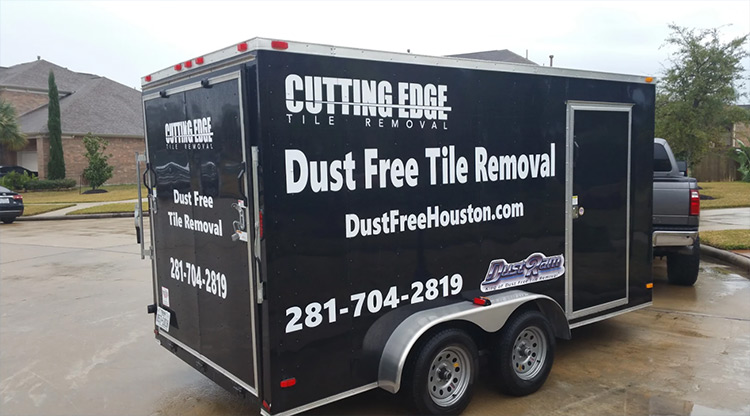 about us dust free tile removal houston