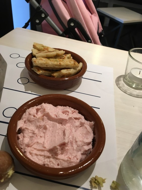 Greek! (Dip made with Salmon Roe!)