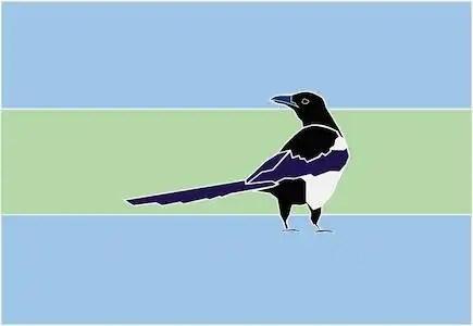 Edmonton Flag Design Featuring a Magpie