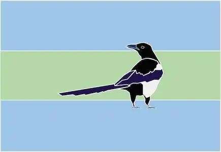 Edmonton Flag Design Featuring a Magpie