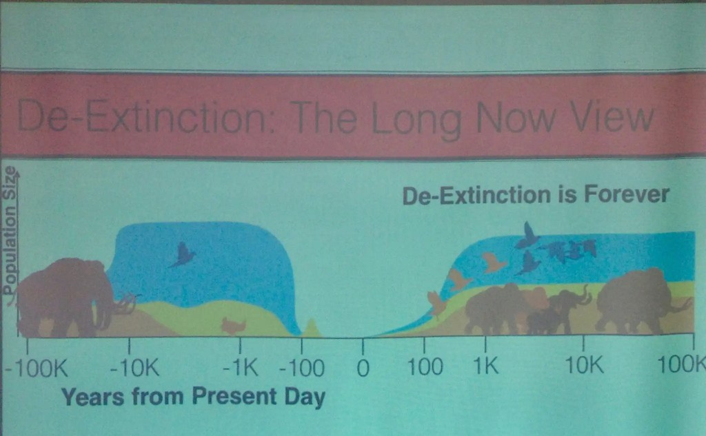 De-Extinction, The LongNow View. We are living in an extinction valley.