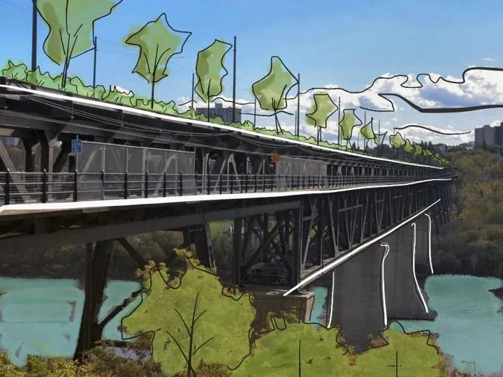 Highlevel bridge park and food forest.