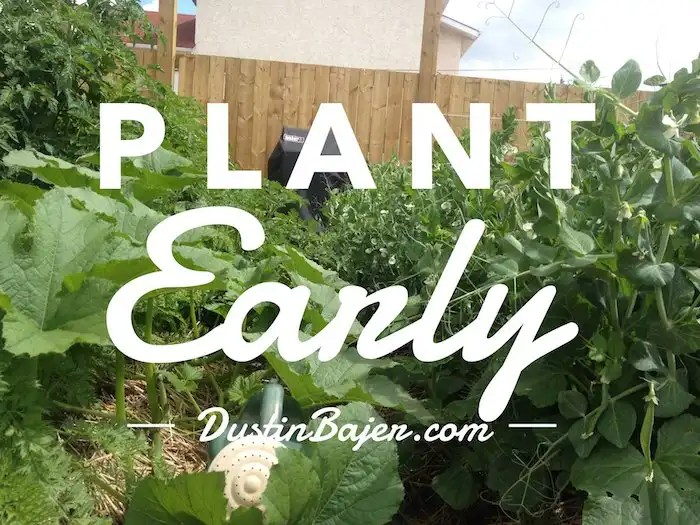 Plant Your Garden Early