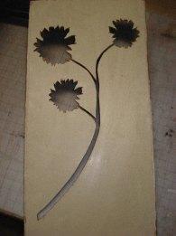 Flower stencil.