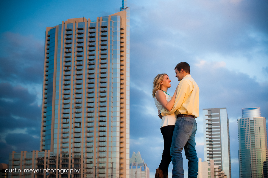 He held her against the skyline.